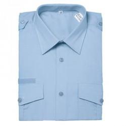Chemise | Bleu ciel manches longues velcro | Pour service courant