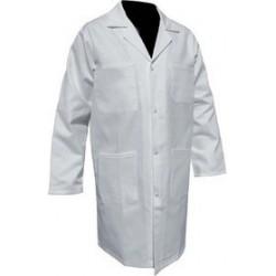 Blouse médicale blanche pour Homme - 100% coton