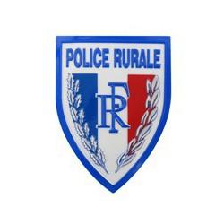 Ecusson plastique Police Rurale en relief