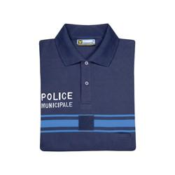 Polo marine manches courtes Police Municipale