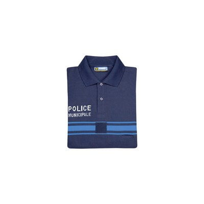 Polo marine Police Municipale à Manches Courtes