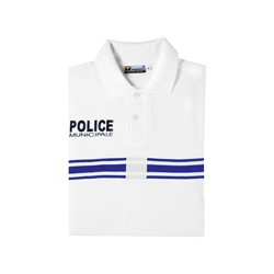 Polo blanc Police Municipale Manches Courtes