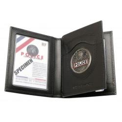 Porte carte professionnelle 3 volets emplacement Navigo - GK Pro