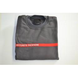 Sweat-shirt Sécurité Incendie gris