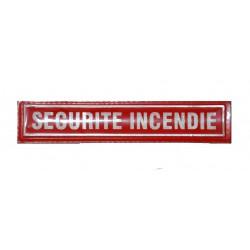 Barrette Sécurité Incendie lettres rouges