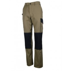Pantalon TYPHON Light beige/noir