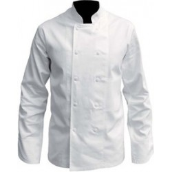 Veste cuisine manches longues blanche coton