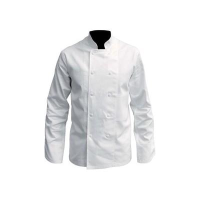 Veste de cuisine | Couleur Blanche, Manches longues, 100% coton