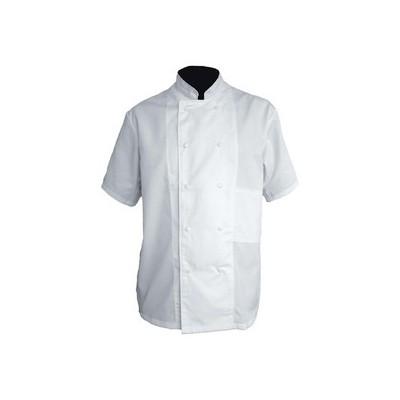 Veste de cuisine | Couleur Blanc, Manches courtes, Polyester et Coton