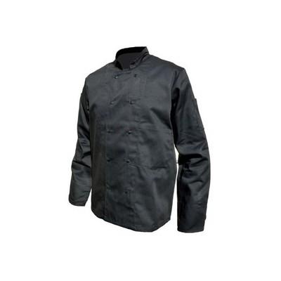 Veste de cuisine | Couleur Noir, Manches longues, Polyester et Coton