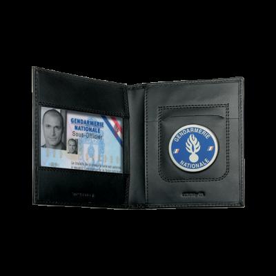 Porte carte Forces de l'Ordre horizontal 2 volets GKPro