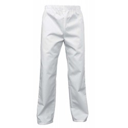 Pantalon médical mixte blanc à cordon