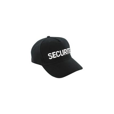 Casquette Agent Sécurité | Couleur Noir, Taille Unique