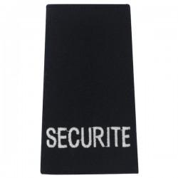 Fourreaux noir brodés SECURITE