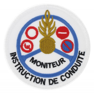 Ecusson | Gendarmerie Moniteur Instruction de Conduite