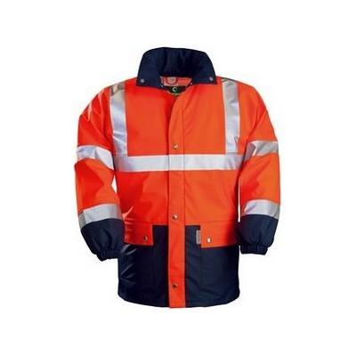 Veste de pluie Haute visibilité orange