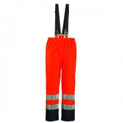 Pantalon de pluie Haute visibilité orange