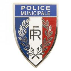 Insigne métal Police Municipale pour calot