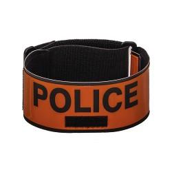 Brassard Police rétroréfléchissant avec porte matricule