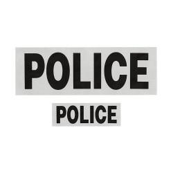 Flaps POLICE en lettres noires