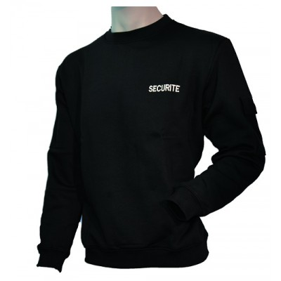 Sweat-shirt noir SECURITE