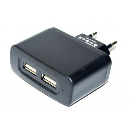 Adaptateur secteur double pour chargement port USB