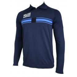 Sweat shirt Thermorégulant marine Police Municipale