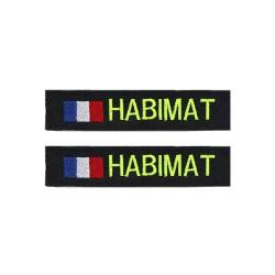 Lot de 2 bandes patronymiques sur fonds noir + drapeau France