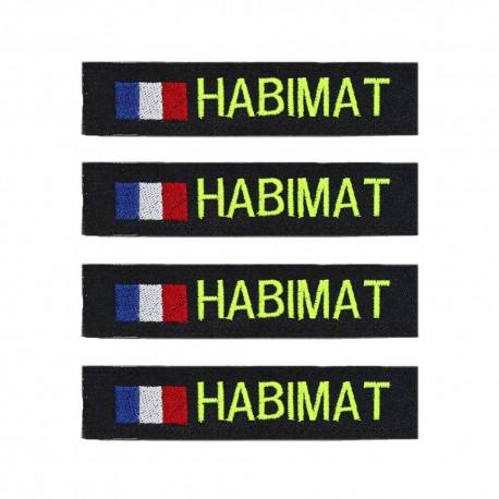 Lot de 4 bandes patronymiques sur fonds noir + drapeau France