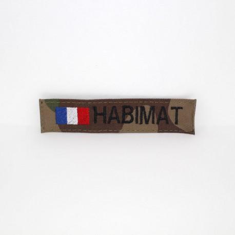 Bande patronymique sur fonds CAMO CE + drapeau France