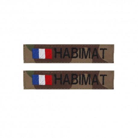 Lot de 2 bandes patronymiques sur fonds CAMO CE + + drapeau France