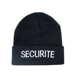 Bonnet noir SECURITE
