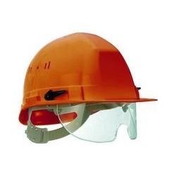Casque de chantier avec lunettes