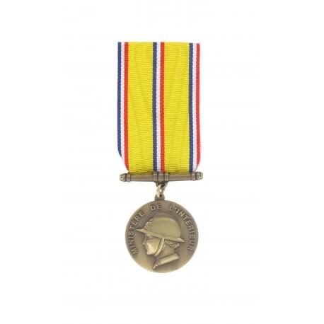 Médaille d'ancienneté des Sapeurs Pompiers Bronze 10 ans