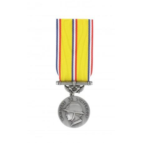 Médaille d'ancienneté des Sapeurs Pompiers Argent 20 ans