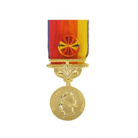 Médaille Sapeurs Pompiers pour Services Exceptionnels Or