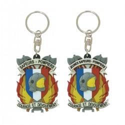 Porte clefs souple Courage et Dévouement Sapeurs Pompiers
