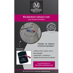 Kit plastron velours noir