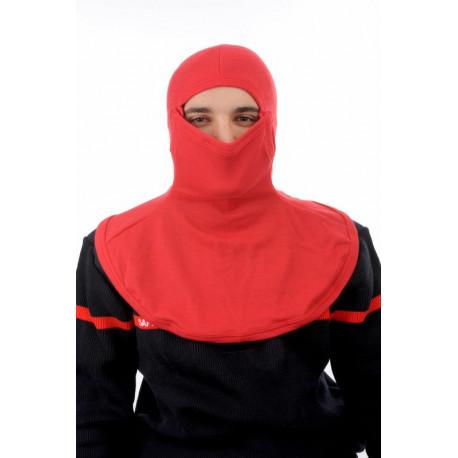 Cagoule de protection anti feu  Couleur Rouge ou Bleu