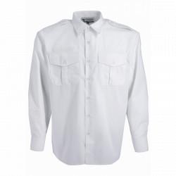 Chemise blanche règlementaire col fermé