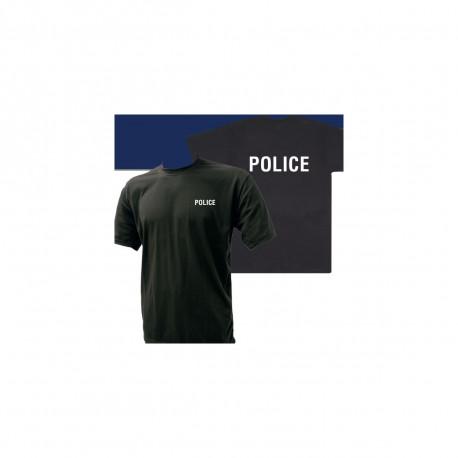 Tee-shirt Noir | Imprimé Police