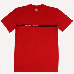 Tee-shirt Sécurité Incendie | Coton rouge 180 gr