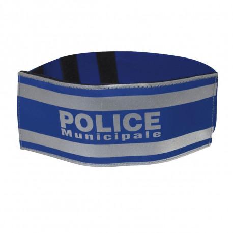 Brassard élastique orange POLICE MUNICIPALE