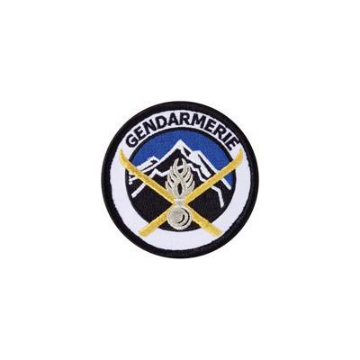 Ecusson de bras rond Haute montagne | Gendarmerie