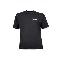 Tee-Shirt Sécurité | Noir Sérigraphié