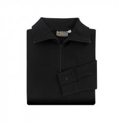 Chemise type F1 en coton noir