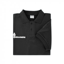 Polo allégé noir Gendarmerie