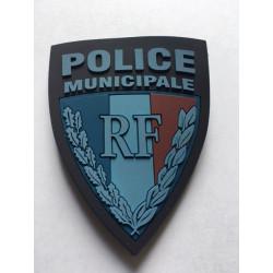 Ecusson POLICE MUNICIPALE basse visibilité