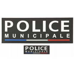 Dossards noir PVC POLICE MUNICIPALE