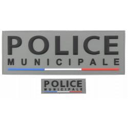 Dossards gris PVC POLICE MUNICIPALE